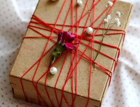 Dekoratif hediye paketi yapımı