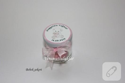 Bebek şekeri mini kavanoz