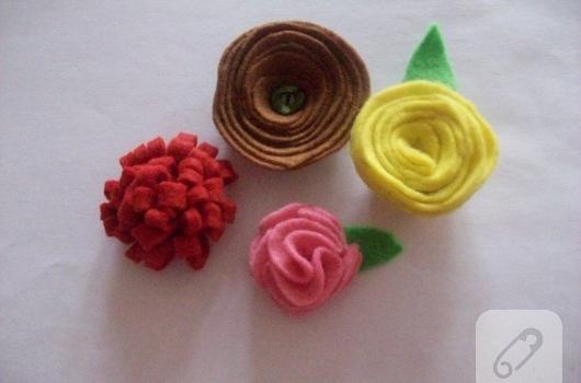 Keçe çiçekler