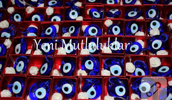 kına kutu çiçekli cam nazar boncuk kırmızı kutu puantiyeli kurdele kına gecesi henna night bridal shower red nazar boncuğu kına kesesi kına gecesi (4)