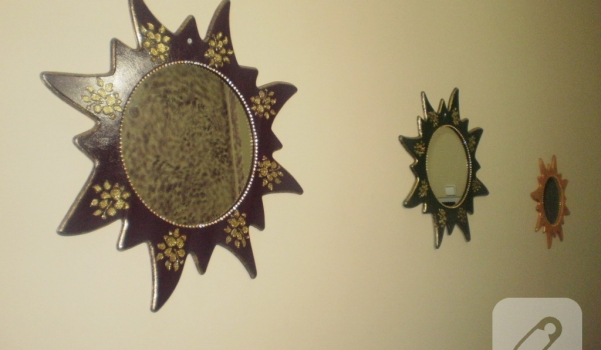 Ahşap Boyama Ayna 10marifetorg