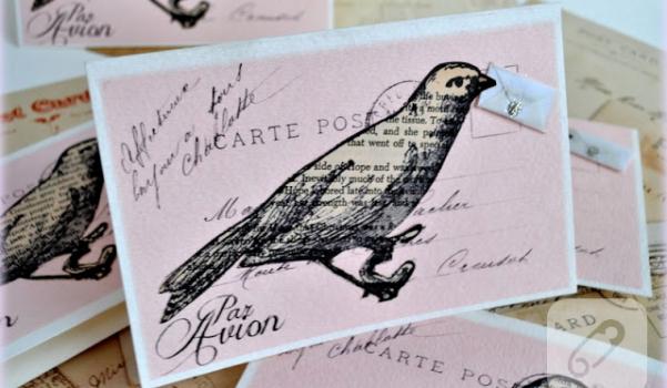 par avion messenger bird valentine's day card tutorial