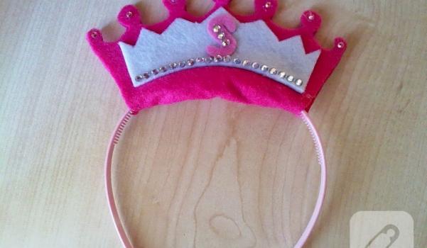 keçe prenses tacı
