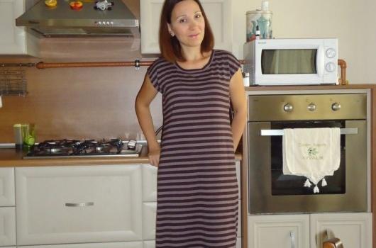 cizgili-uzun-elbise