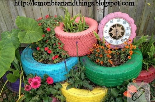 Saks modelleri for Modelos de jardines pequenos con llantas