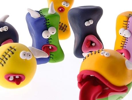 fimo-hamurundan-canavar-oyuncaklar