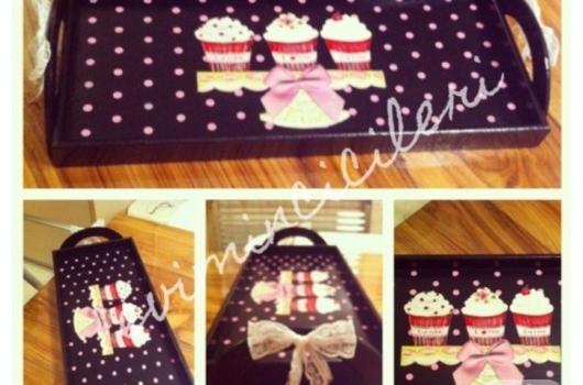 cupcake-dekupajli-ahsap-boyama-tepsi