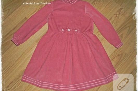 pembe-kadife-cocuk-elbisesi