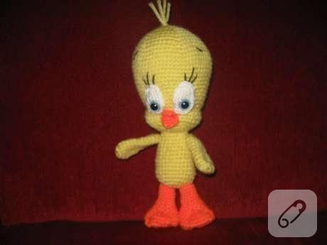 amigurumi-orgu-oyuncak-tweety