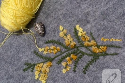kece-uzerine-mimoza-nakis-islemesi-2