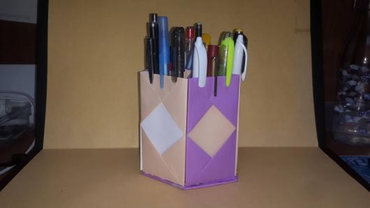 origami-kalemlik-yapimi