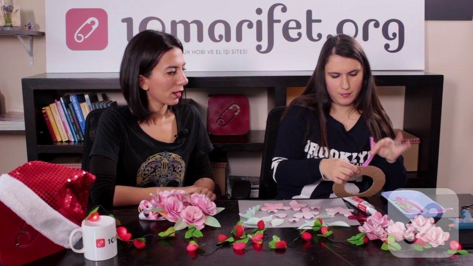 Video: Kağıt çiçekli kapı süsü nasıl yapılır?