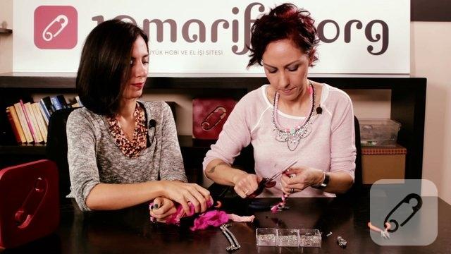 Video: Zincirli ipek bileklik yapımı