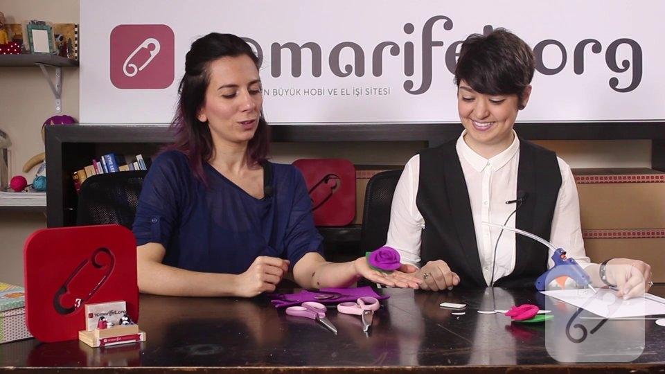 Video: Kalın keçe ile çiçek yapımı