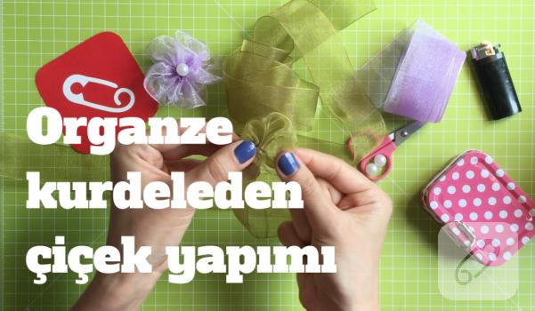 Video: Organze kurdeleden çiçek nasıl yapılır?