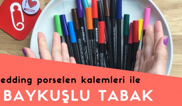 Video: edding porselen kalemleri ile baykuş temalı tabak boyama