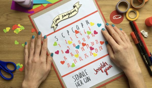 Video: Sevgililer Günü Aşk Takvimi nasıl yapılır?