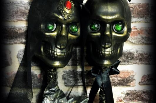 Video: Gotik kurukafa gelin damat yapımı