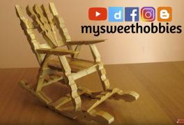 Video: Ahşap mandallardan sallanan sandalye yapımı