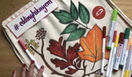 Video: edding ile sonbahar temalı kumaş çanta yapımı