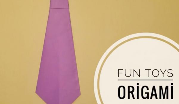 Kağıttan kravat yapımı
