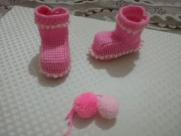 Tunus işi bebek botu yapımı