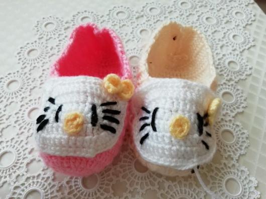 Amigurumi) Hello Kitty Kedi Yapımı 2. Bölüm - Kulak ve Bacak ...   398x530