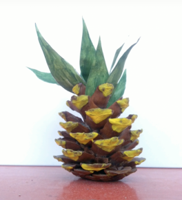 Kozalaktan süs eşyası ananas yapımı