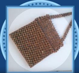 Tahta boncuklardan çanta yapımı